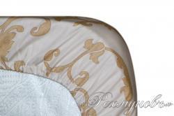 Простынь сатин на резинке «Вирджиния 2 - компаньон»