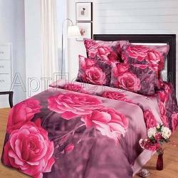 Купить Постельное белье из сатина «Дикая роза»